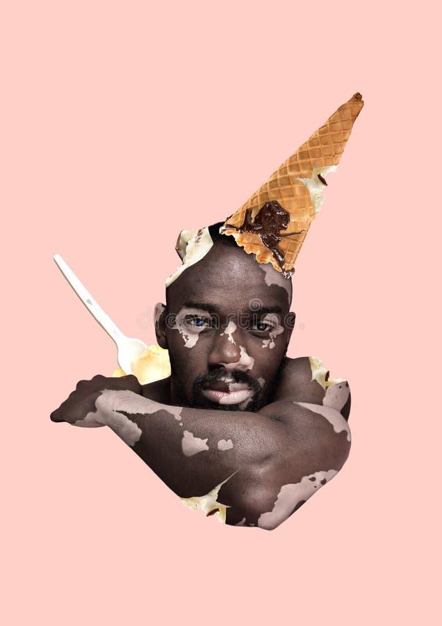 供选择的冰淇凌 现代的设计 当代艺术拼贴画 库存图片