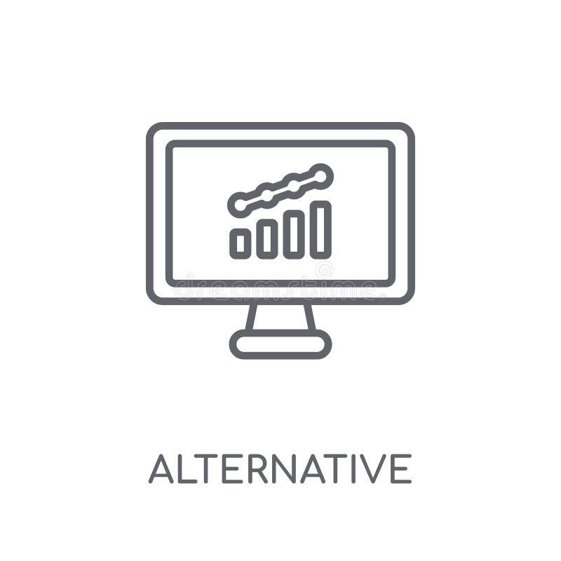 供选择的投资市场线性象 现代概述Altern 向量例证
