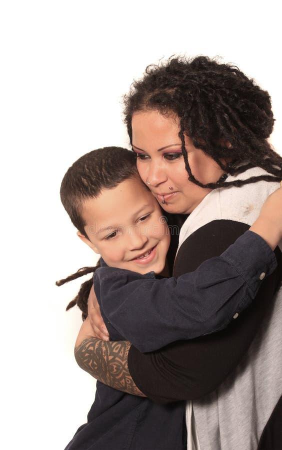 供选择的母亲和儿子 免版税库存照片