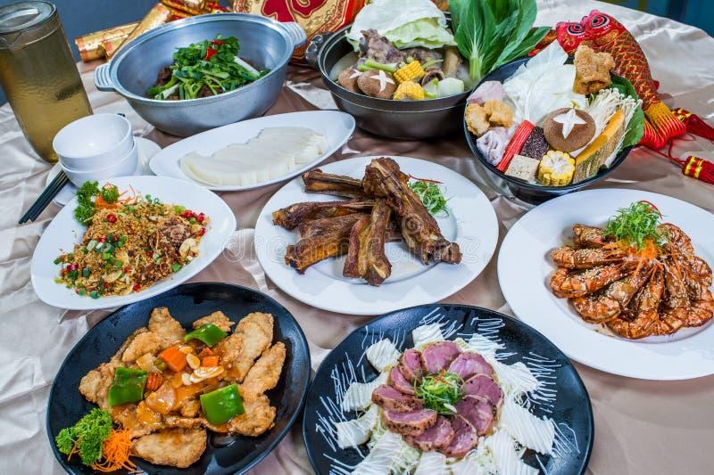 供食的中国食物 免版税库存照片