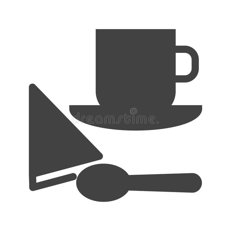 供食的咖啡 库存例证