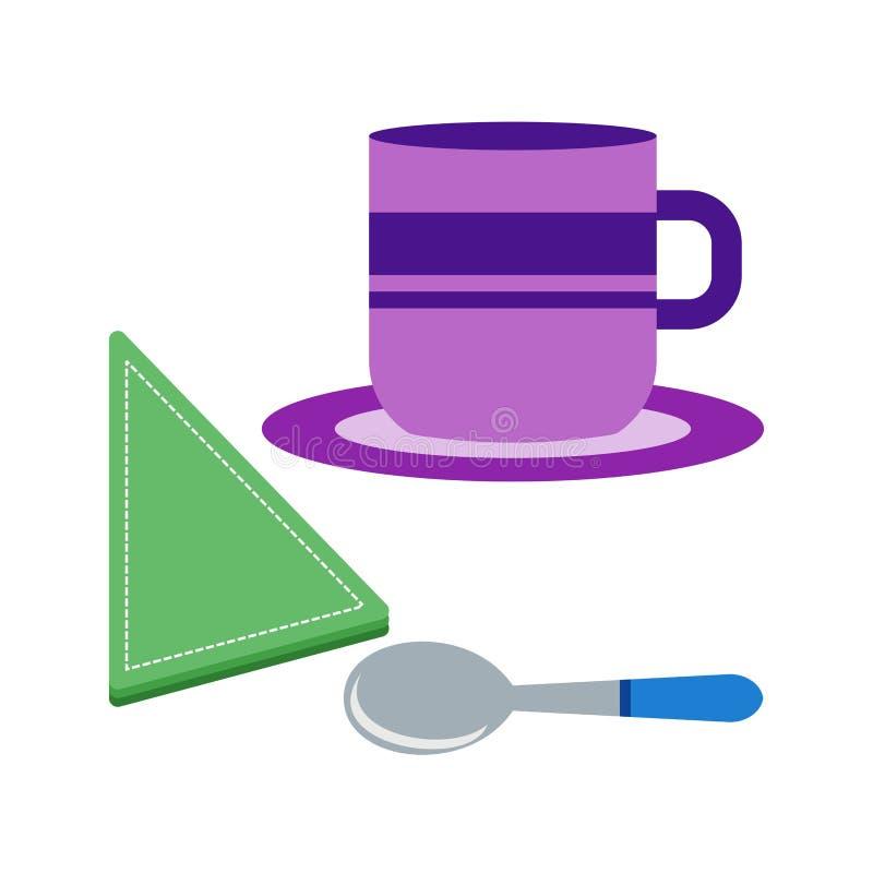 供食的咖啡 向量例证