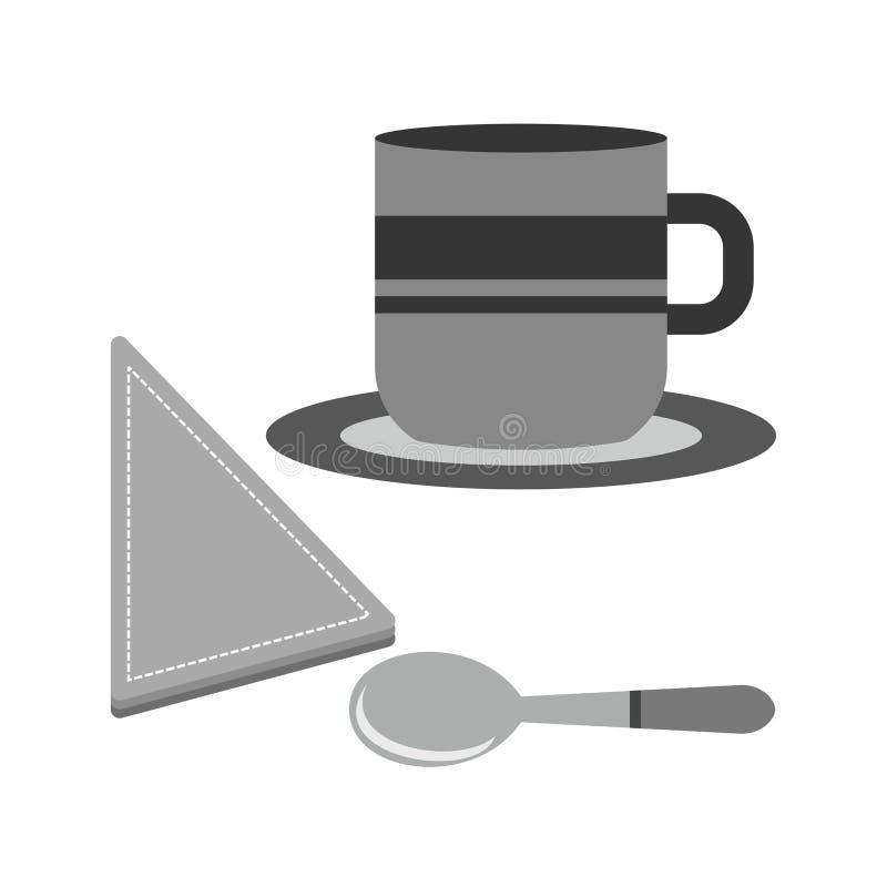 供食的咖啡 皇族释放例证