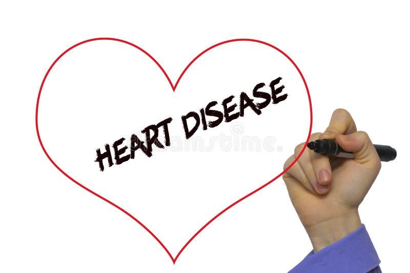 供以人员手文字与标志的心脏病在透明抹b 免版税图库摄影