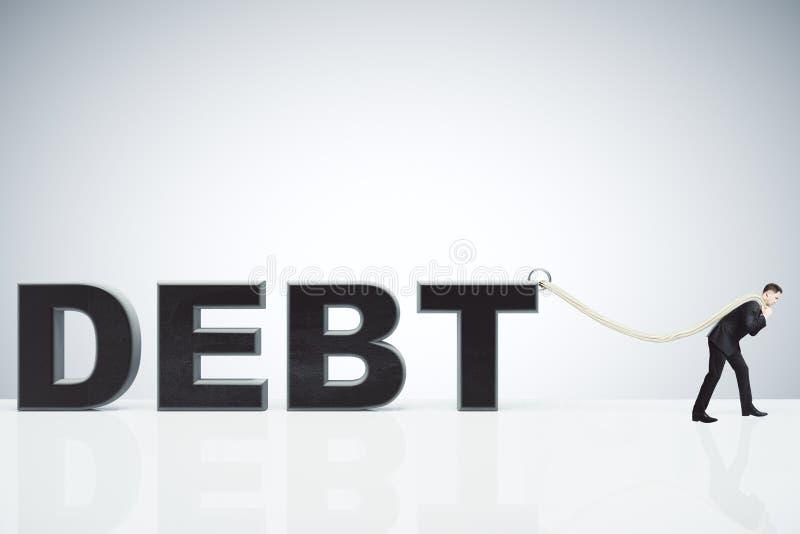 供以人员拉扯绳索负债概念 库存照片
