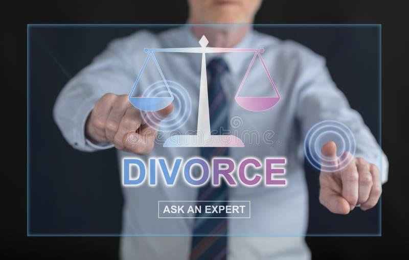 供以人员接触接触scre的一个网上离婚忠告网站 库存照片