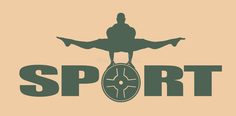 供以人员肌肉摆在 体型象征 向量例证