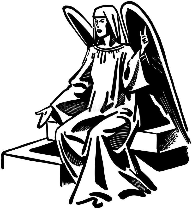 供以座位的天使 向量例证