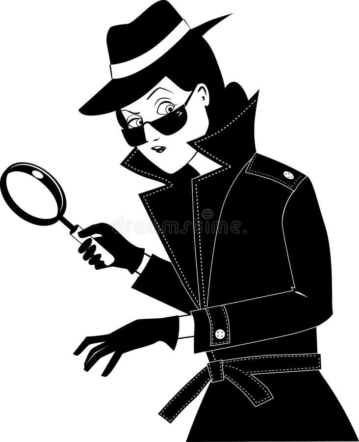 侦探夹子艺术 向量例证