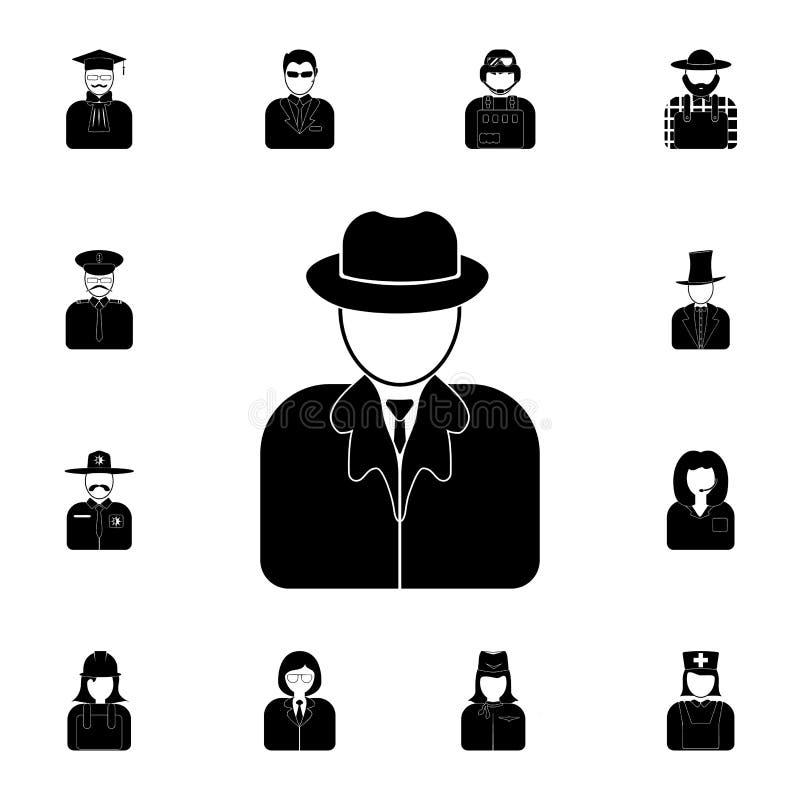 侦探象的具体化 详细的套行业象的具体化 优质质量图形设计象 一collec 皇族释放例证