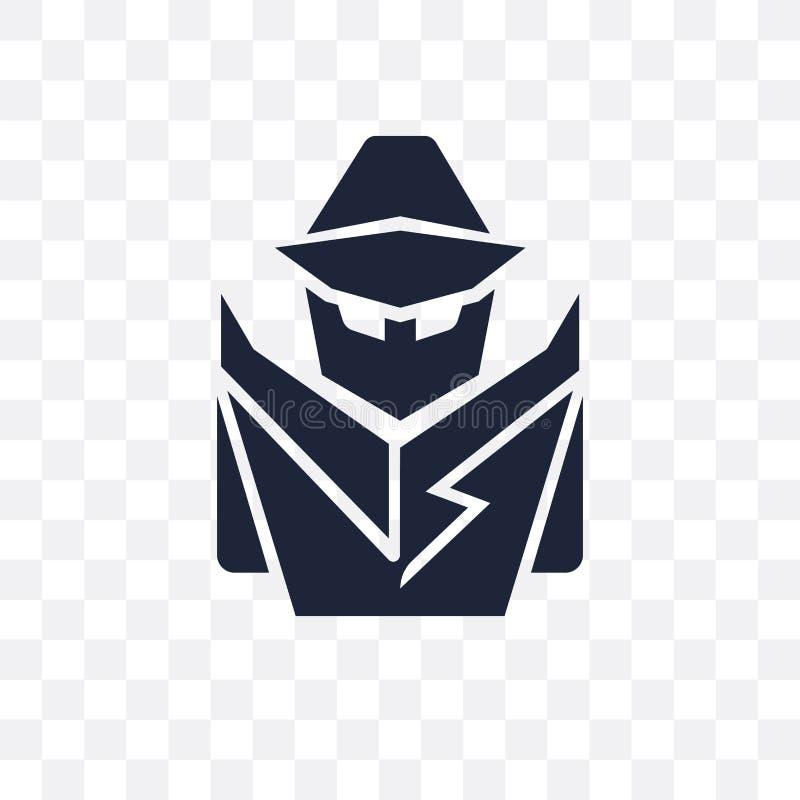 侦探透明象 侦探从A的标志设计 库存例证