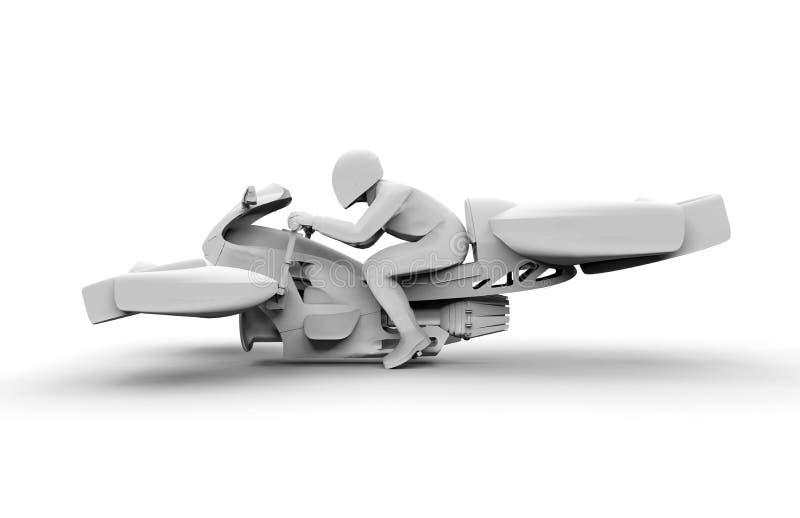 侧视图-翱翔自行车概念 库存例证