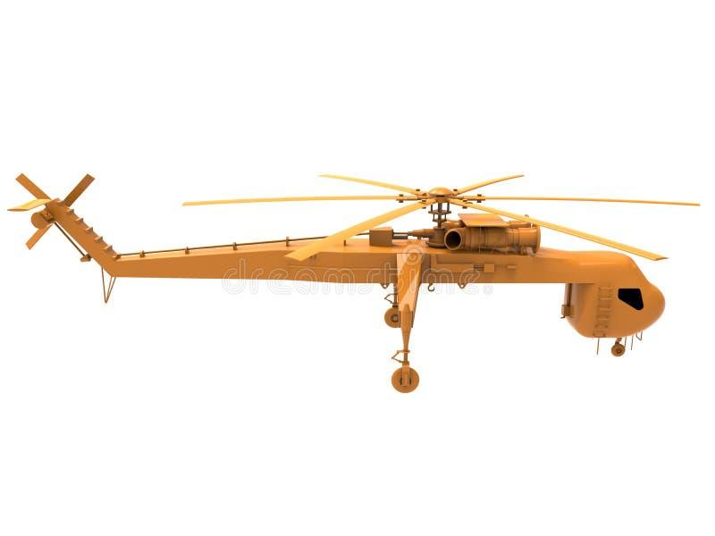侧视图-货运直升机 库存例证