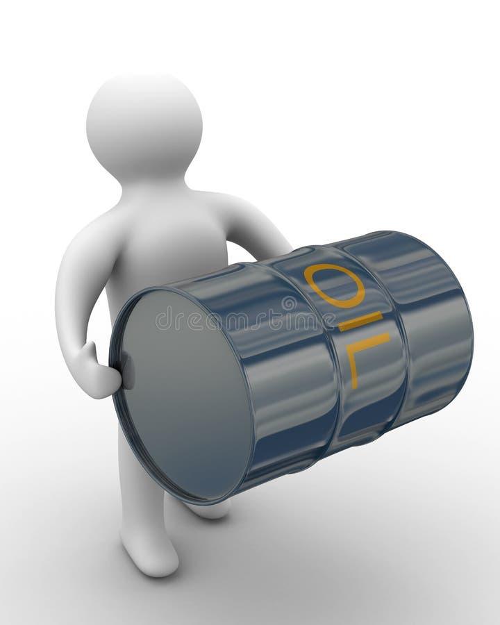 侧面对调用的装入程序油 库存例证