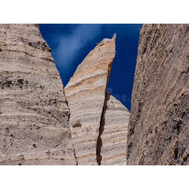 侵蚀不祥新墨西哥沙漠层数 库存图片