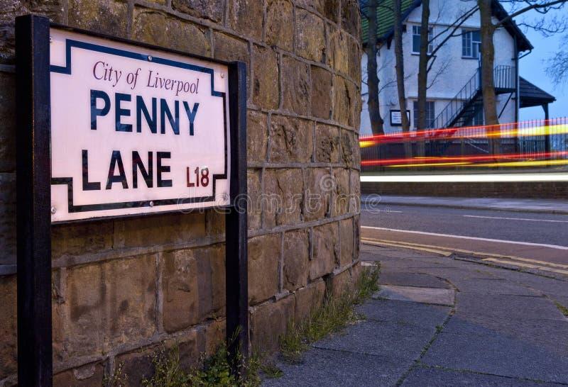 便士车道在利物浦 库存图片