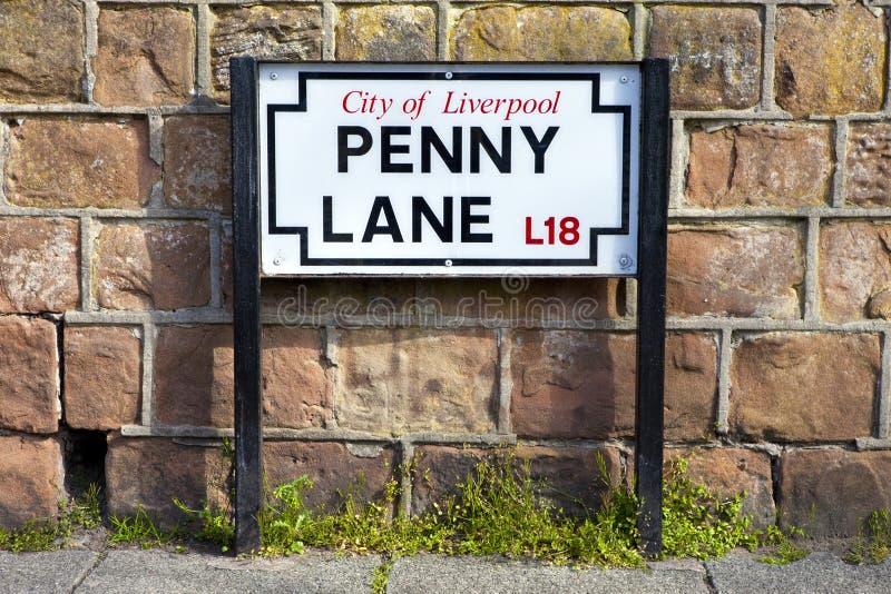 便士车道在利物浦 图库摄影