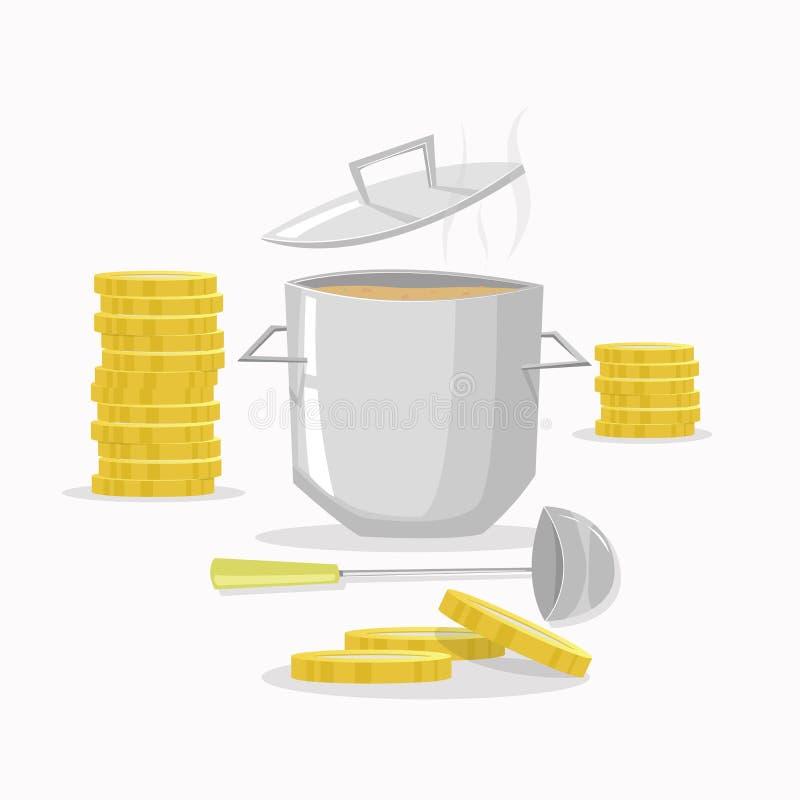 便宜烹调 库存例证