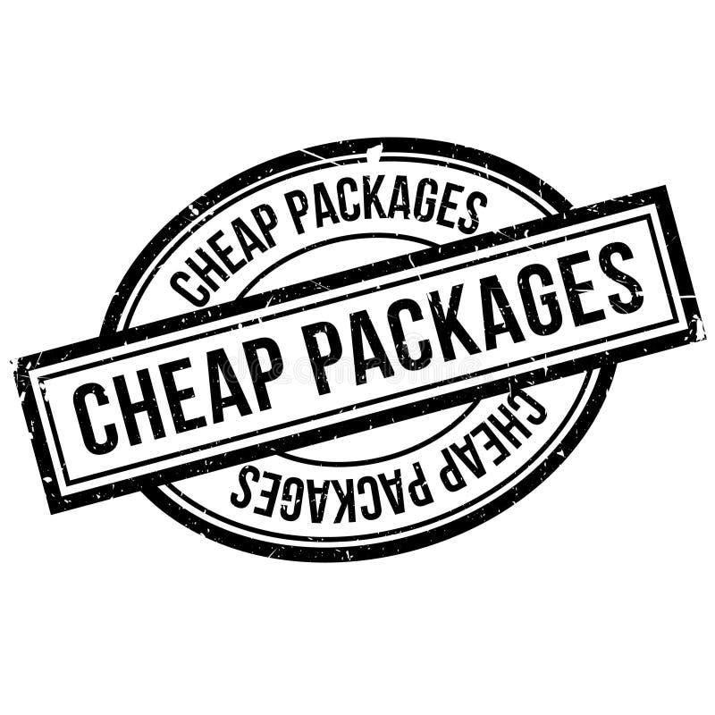 便宜的包裹不加考虑表赞同的人 库存例证