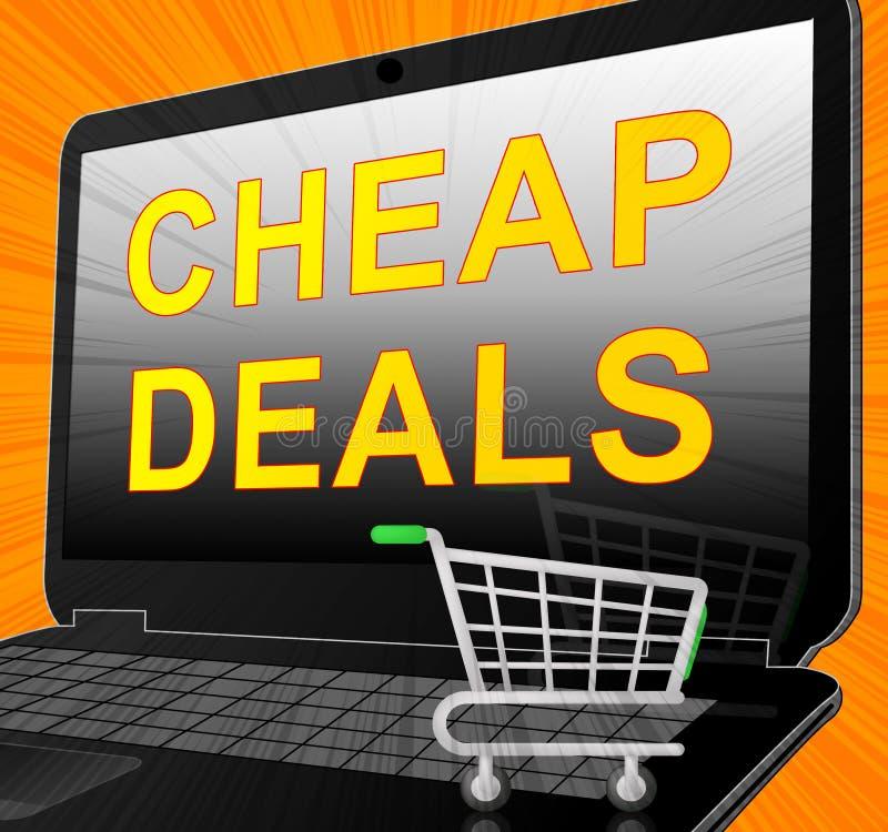 便宜的成交代表增进抛售3d例证 皇族释放例证