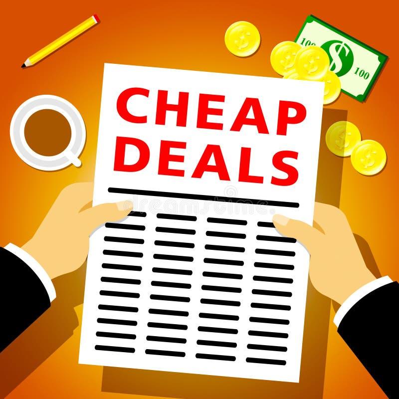 便宜的成交表明增进抛售3d例证 库存例证