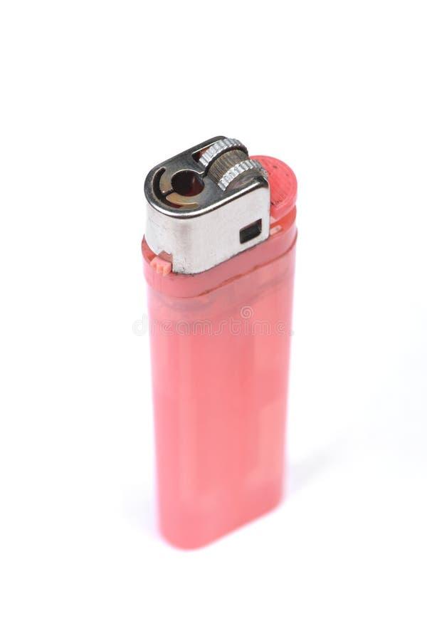 便宜的桃红色塑料气体一次性打火机 库存照片
