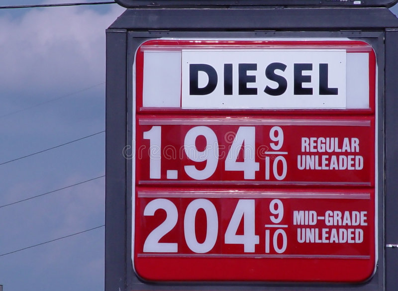 便宜的气体 免版税库存图片