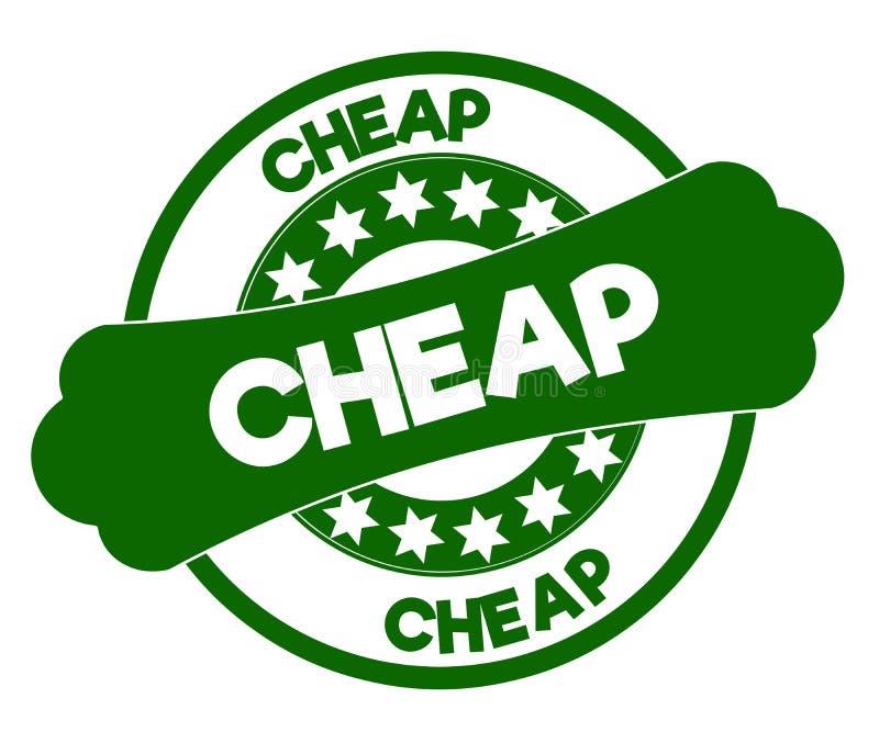 便宜的绿色邮票 向量例证