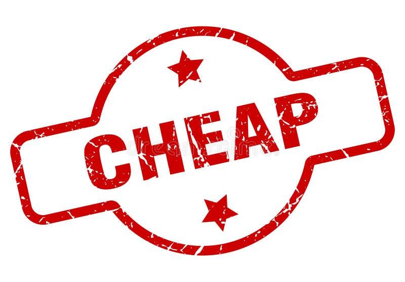 便宜的邮票 向量例证