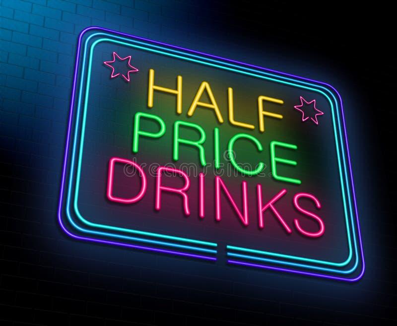 便宜的酒精概念。 皇族释放例证