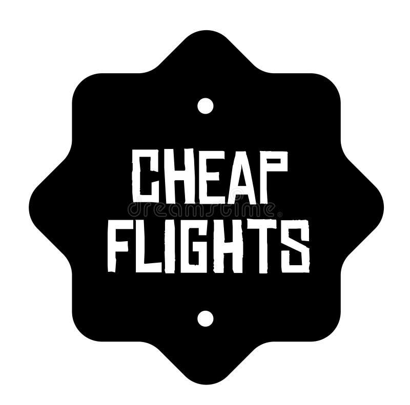 便宜的飞行在白色盖印 库存例证