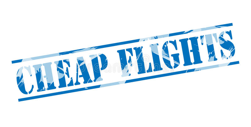便宜的飞行蓝色邮票 皇族释放例证