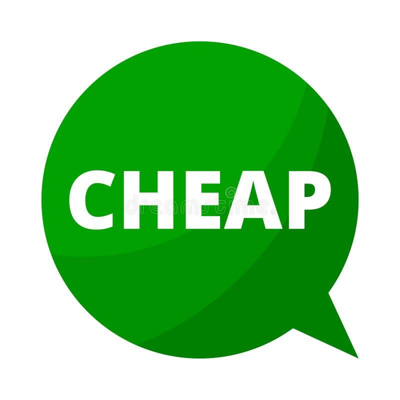便宜,绿色讲话泡影 皇族释放例证