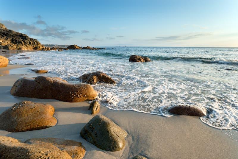 轻便小床谷海滩 库存图片