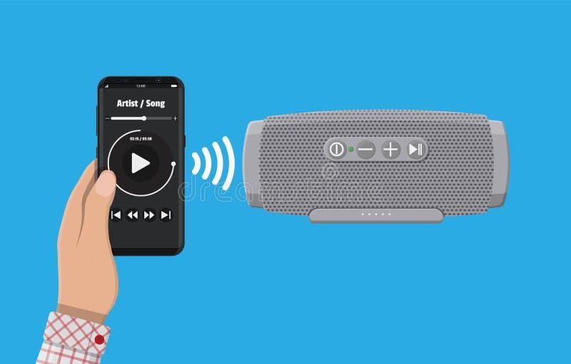 便携式的无线报告人 智能手机 向量例证