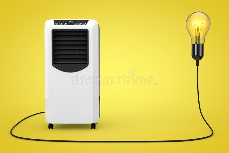 便携式的流动室空调器被连接到创造性的想法 向量例证