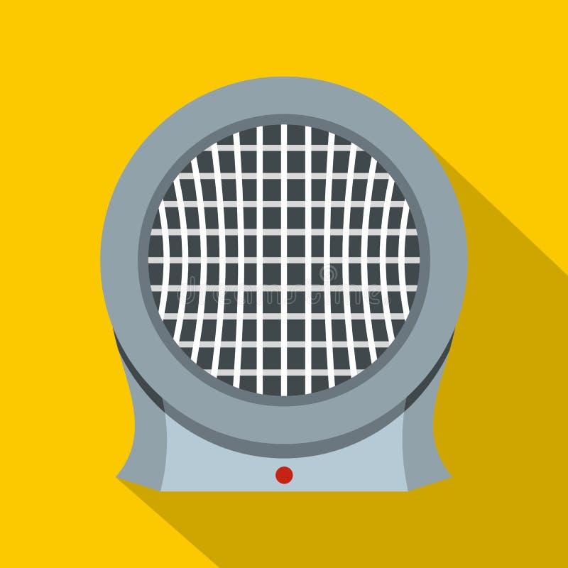 便携式的电暖气象,平的样式 皇族释放例证