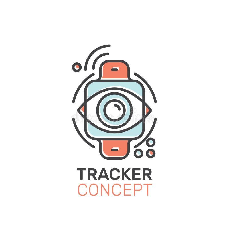 便携的手表跟踪仪 库存例证