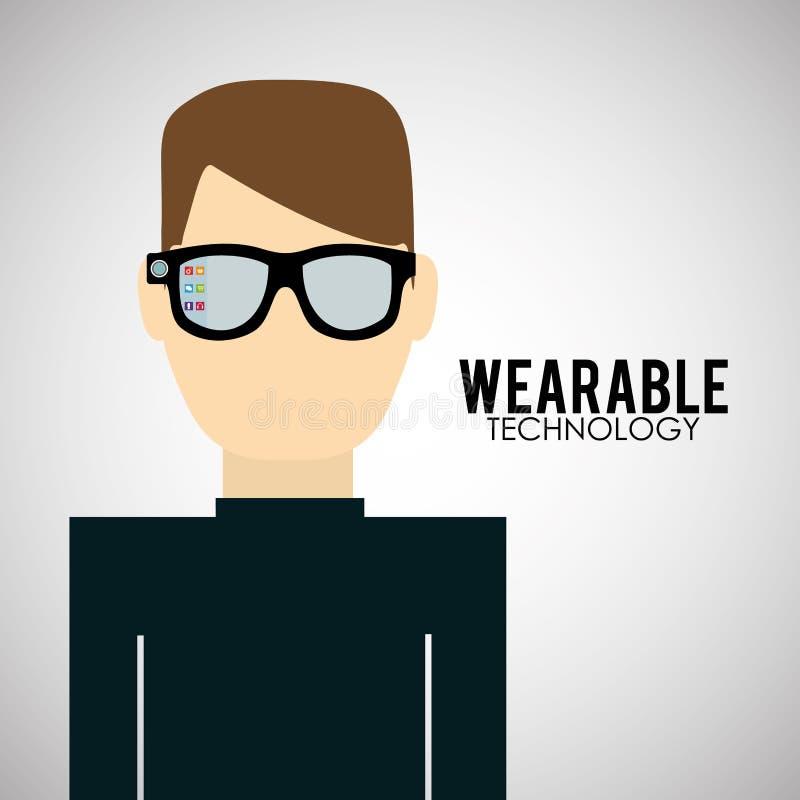 便携的技术设计 社会媒介象,传染媒介例证 库存例证