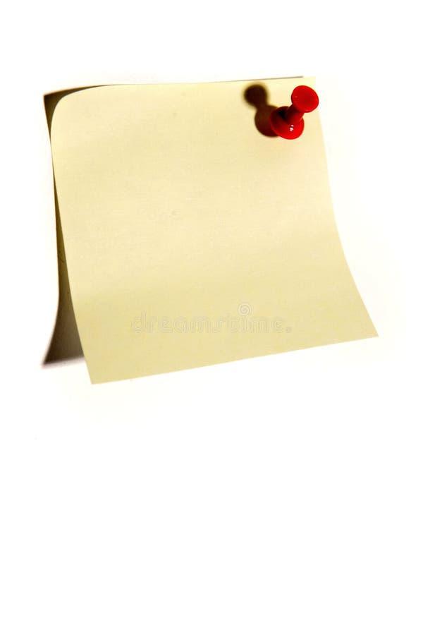 便条纸针推进 库存图片