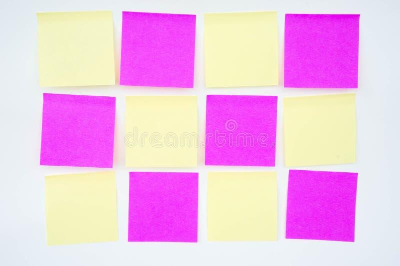 便条纸,简短的笔记,笔记注意 在提示A少校 库存照片