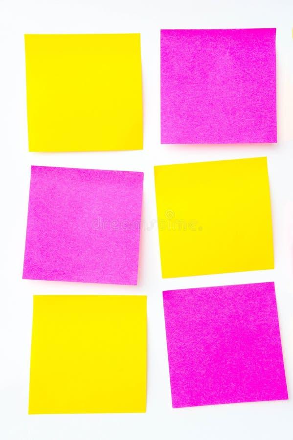 便条纸,简短的笔记,笔记注意 在提示A少校 免版税库存照片
