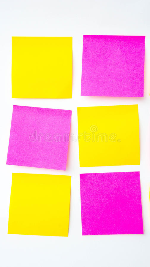 便条纸,简短的笔记,笔记注意 在提示A少校 免版税库存图片
