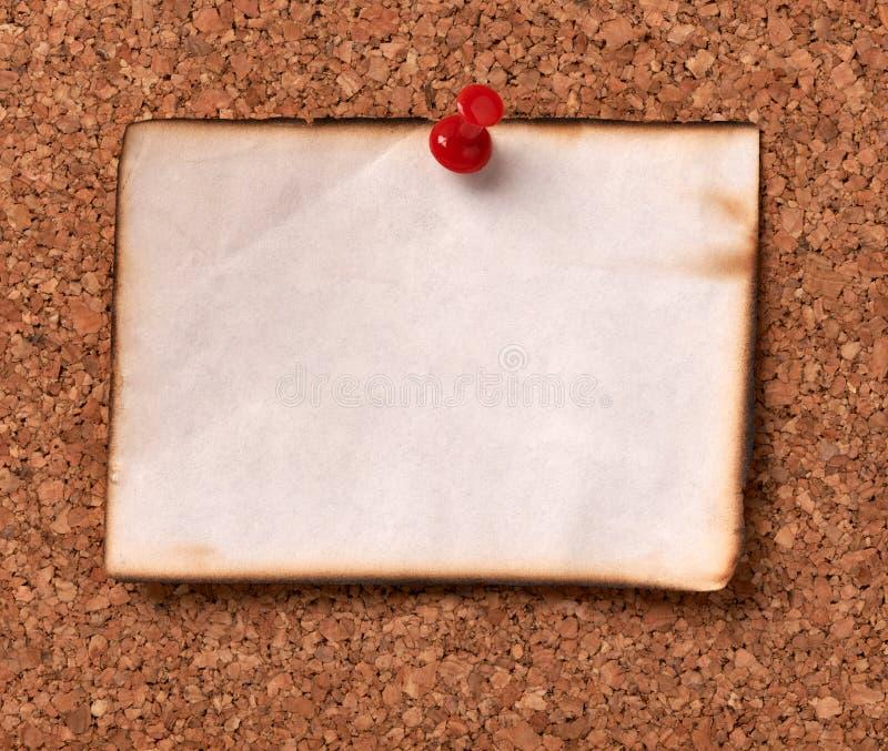 便条纸corkboard标签消息柱子 库存照片