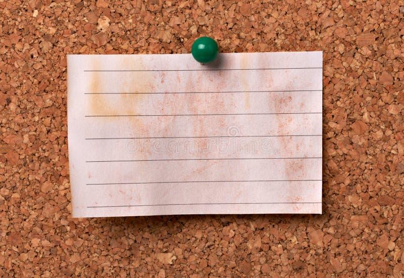 便条纸corkboard标签消息柱子 免版税库存图片