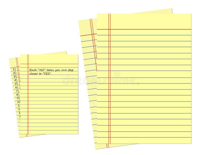 便笺簿黄页。 库存例证