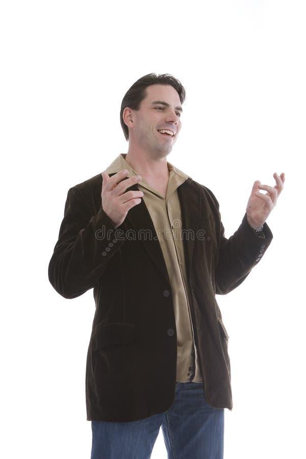 便衣的英俊的人 免版税库存图片