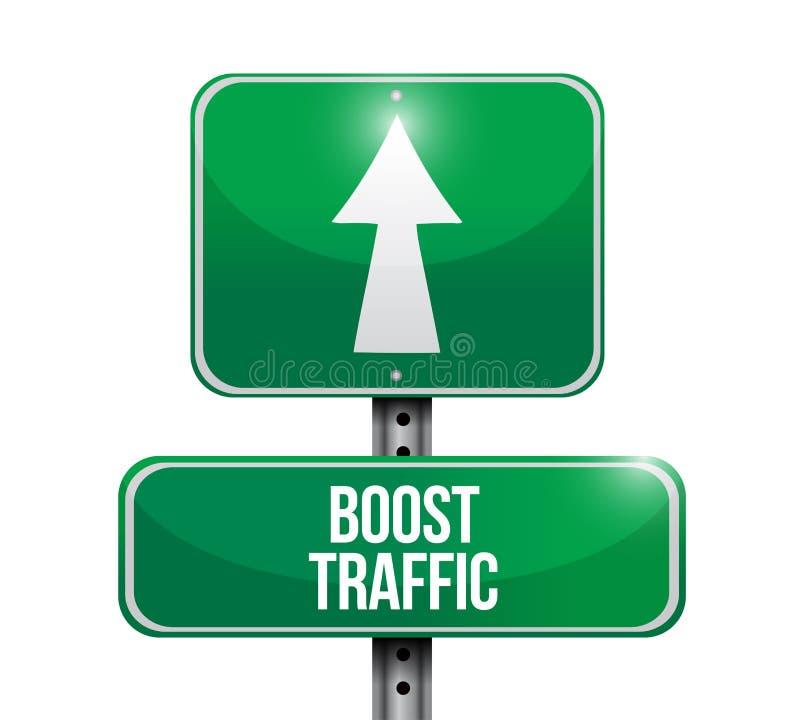 促进交通路标例证设计 向量例证