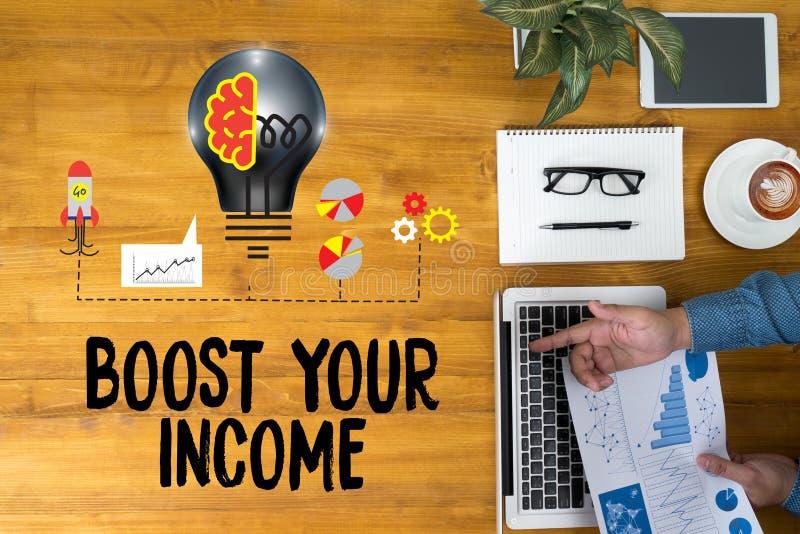 促进您的事务,促进您的收入,事务,技术, 向量例证
