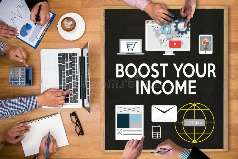 促进您的事务,促进您的收入,事务,技术, 皇族释放例证